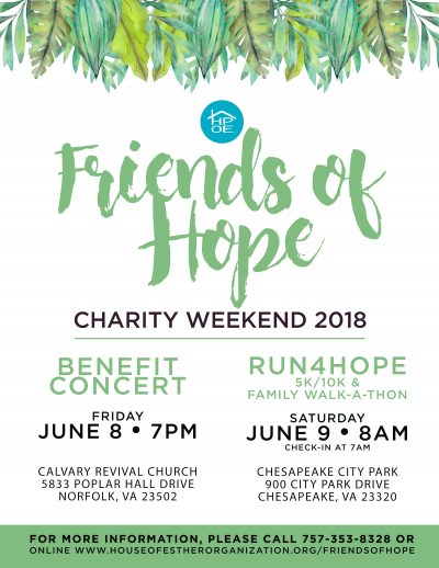 Friends of Hope 2018 Flyer